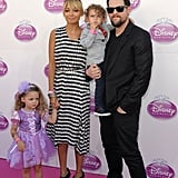 Nicole Richie and Joel Madden at Disney's Princess Royal Court Celebration.