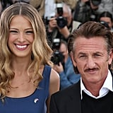 Czech model Petra Nemcova and US actor Sean Penn posed during the Haiti: Carnival in Cannes event.
