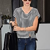 Miranda Kerr ventured out solo from her hotel.