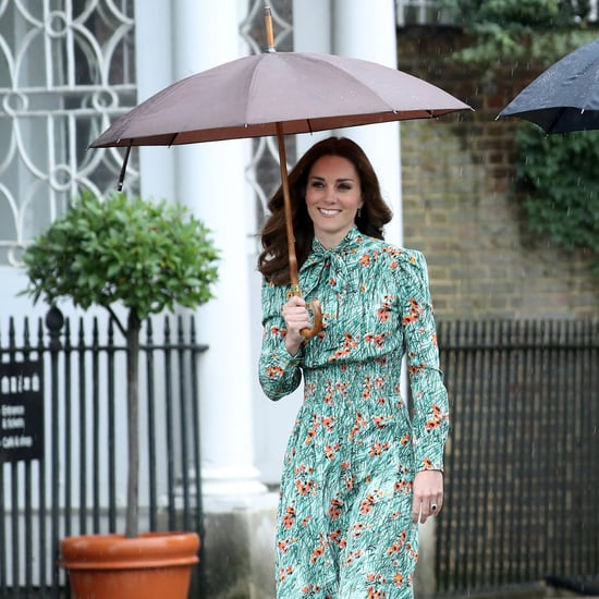 Kate Middleton Wearing Prada Poppy Print Dress