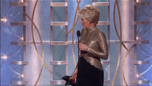She Was Over Her Heels at the Globes