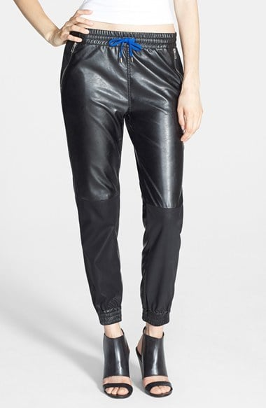 BlankNYC Faux Leather Track Pants