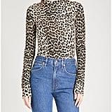 Ganni Montmartre leopard-print Stretch top