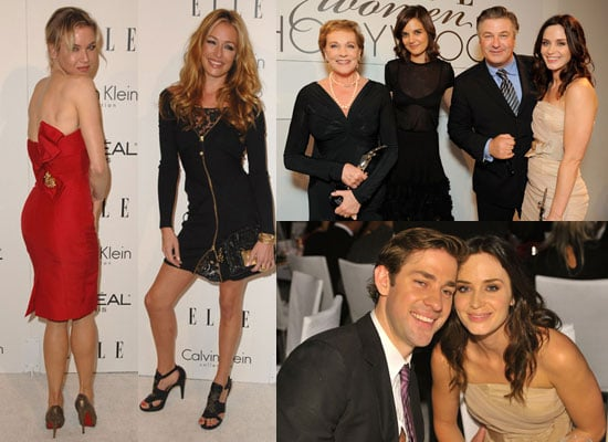 Gallery of Elle Women in Hollywood Pictures, Pictures of Emily Blunt in Nude Dress, Photos of Katie Holmes in Sheer Dress