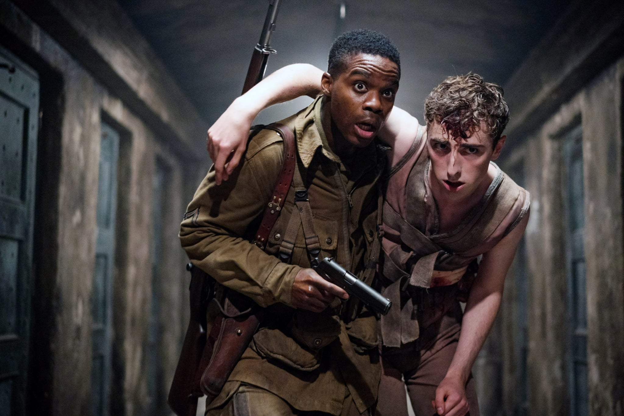OVERLORD, from left: Jovan Adepo, Dominic Applewhite, 2018. ph: Peter Mountain / Paramount Pictures /Courtesy Everett Collection