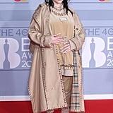 Billie Eilish at the 2020 BRIT Awards Red Carpet