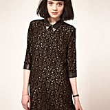 For a more formal feel, try a lace cocktail dress with a Western collar (read: a leather collar, complete with metal tips). Sister Jane Cowboy Leather Collar and Cuffs Lace Dress ($137)
