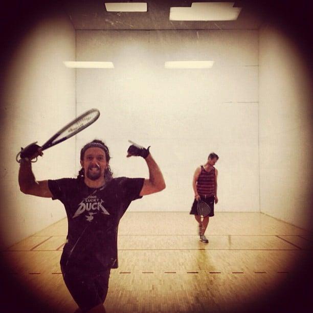 Jason Mraz played a fierce game of racquetball. Source: Instagram user jason_mraz