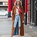 Sweater + Bermuda Shorts + Duster Coat