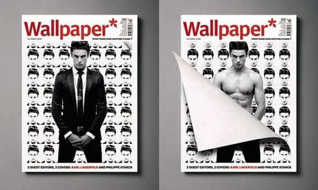 Karl Lagerfeld's Peelable Cover for Wallpaper Magazine October 2009