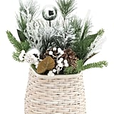 Wall Basket With Pinecones and Berries
