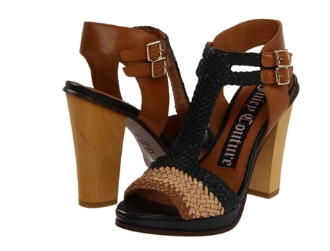 Juicy Couture Crista Woven Double Buckle Heels ($250)