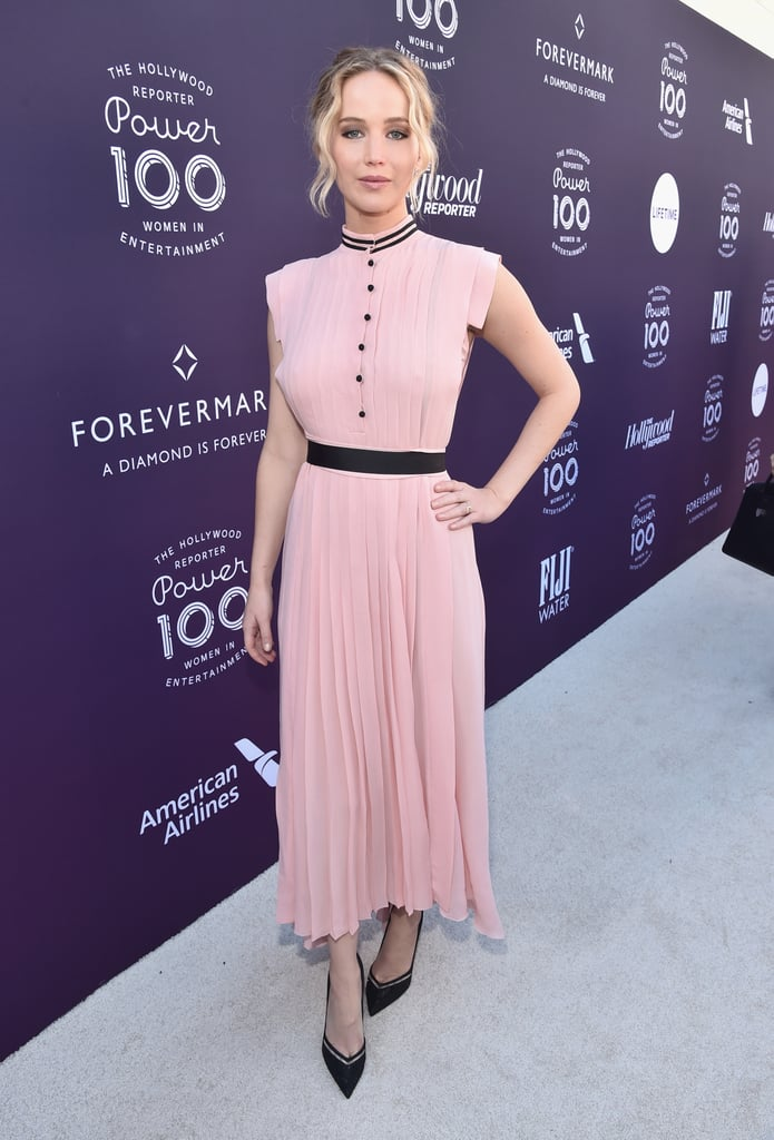 Jennifer lawrences pink philosophy dress popsugar fashion jennifer lawrence made herself even more relatable with this wedding guest outfit voltagebd Image collections