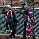 Barack Obama at Playground With Kids