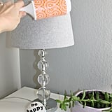 Dust the Lamp Shade With a Lint Roller