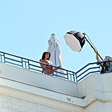 Eva Longoria had a L'Oréal photo shoot on the rooftop of a hotel in Cannes.