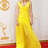 Anna Faris stepped out for the 2013 Emmys.