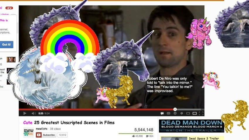 . . . Or the Cornify Chrome extension that's all about the unicorn rainbows.