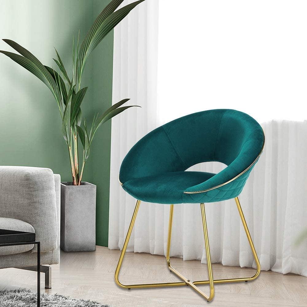 For Affordable Luxury: Lue Bona Modern Accent Velvet Chair