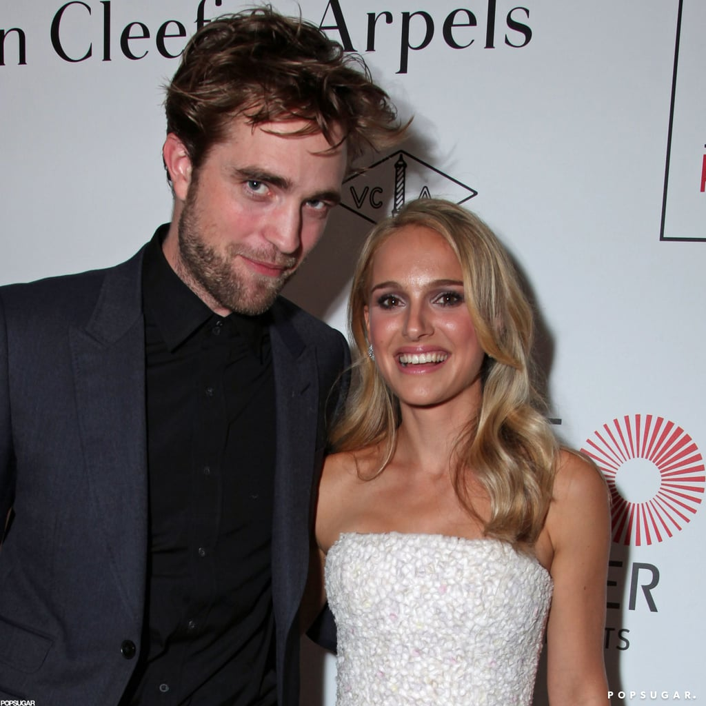 Robert Pattinson and Natalie Portman posed for a photo.