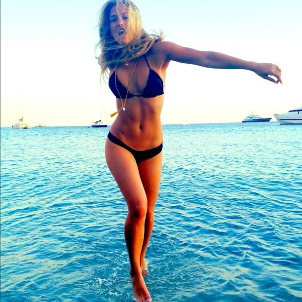 Bar Refaeli showed off her bikini body.  Source: Instagram user barrefaeli