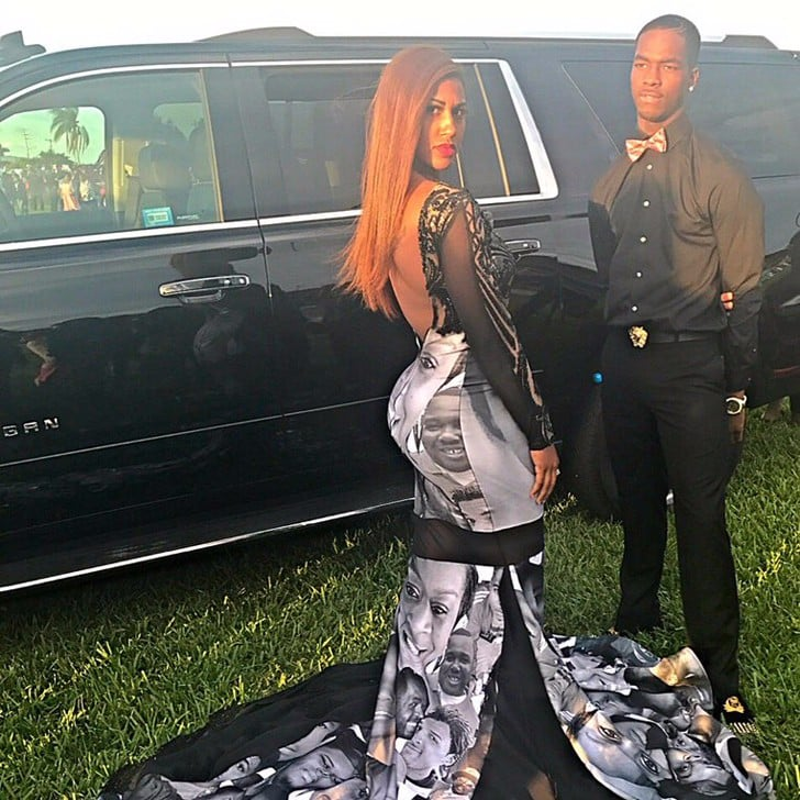 ebeea4d2226 Teen s Prom Dress Honors Black Lives Matter