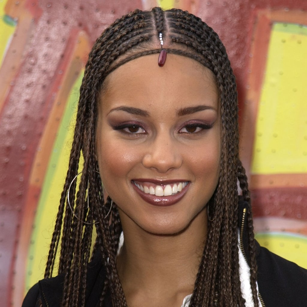 Superb Alicia Keys39S Best Hair And Makeup Looks Popsugar Beauty Short Hairstyles Gunalazisus