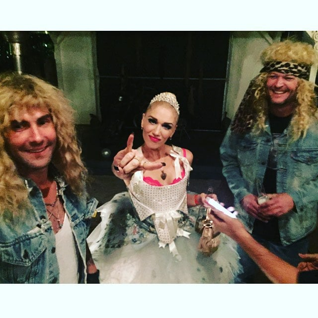 Adam Levine and Blake Shelton as u002780s Glam Rockers and Gwen Stefani as a Punk  sc 1 st  POPSUGAR Australia : celebrity 80s costumes  - Germanpascual.Com
