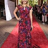 Elizabeth Olsen is quickly becoming a fashion favorite. Here, she's in a floral-print gown at the premiere of Martha Marcy May Marlene.