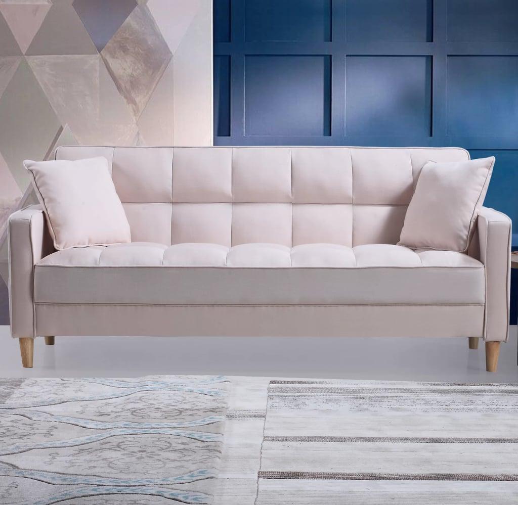 Ebern designs wooler modern fabric tufted sofa best - Best fabric for living room furniture ...