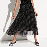 K/lab Pleated Mesh Midi Skirt