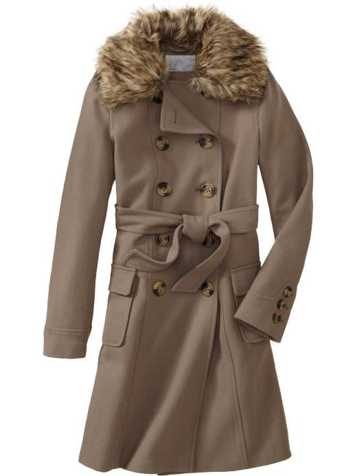 Old Navy Wool-Blend Trench Coats ($100)