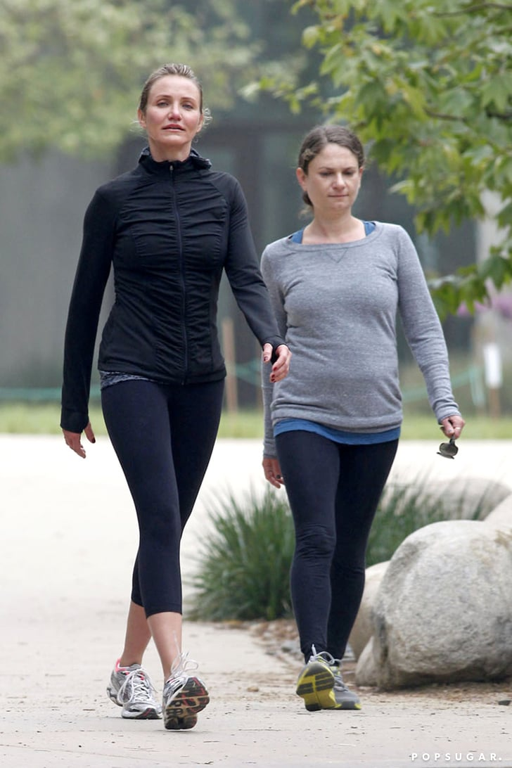 Cameron Diaz Gets Active in LA With a Friend