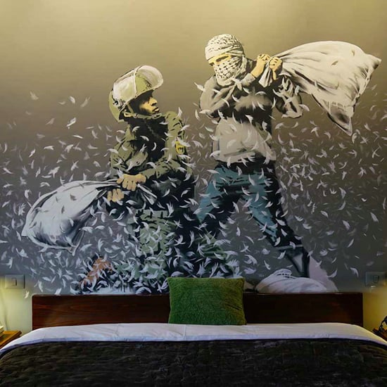 Bansky's Walled Off Hotel Opens in Palestine