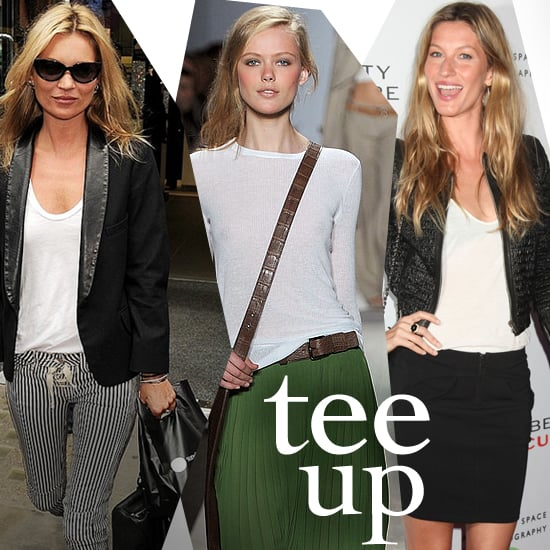 How to Wear a White T-Shirt