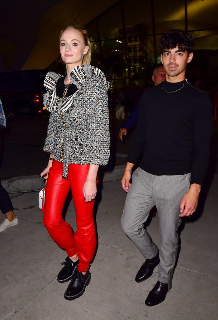Sophie Turner in Red Pants in 2019