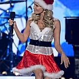 Kristin Chenoweth dressed up as Santa.