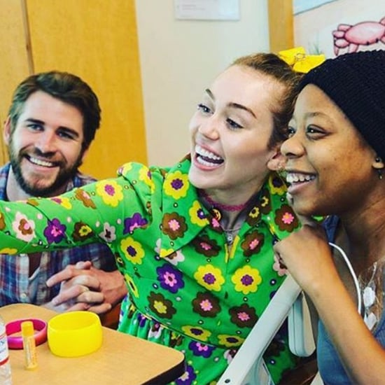 Miley Cyrus and Liam Hemsworth Visiting Children's Hospital