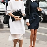 These two took the ladylike, albeit contemporary, approach to getting dressed — and each finished with perfect pumps.