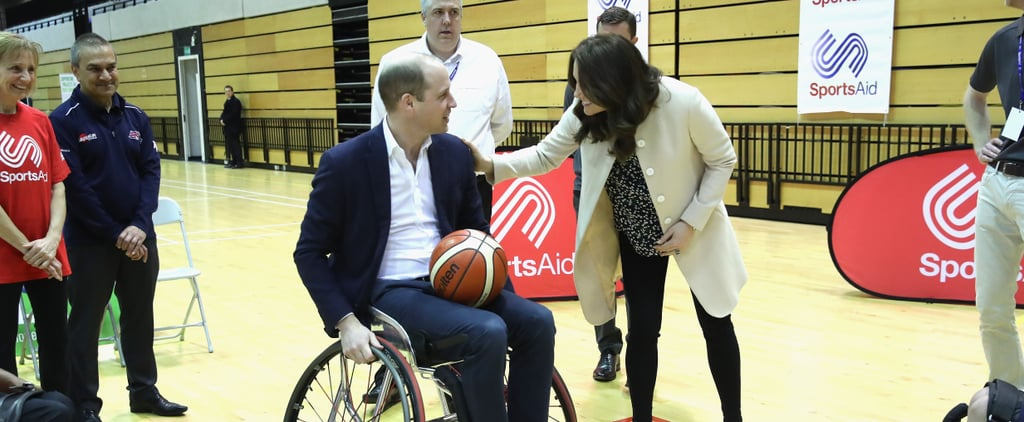 Kate Middleton Looks on With a Smile as Prince William Plays Wheelchair Basketball