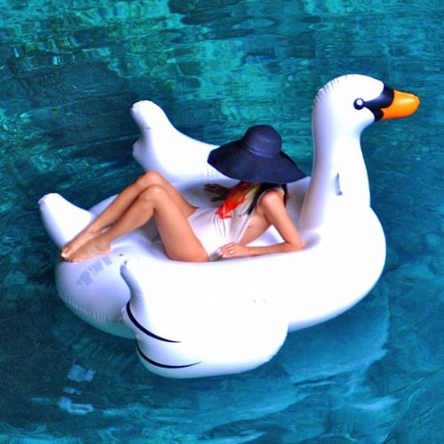 Why the Giant Inflatable Swan Is the Most Stylish Pool Float