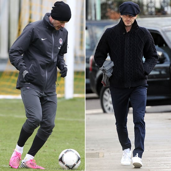 David Beckham Trains With Paris St Germain