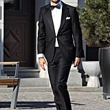 Prince Carl Philip wore black tie in Sweden in June 2013.