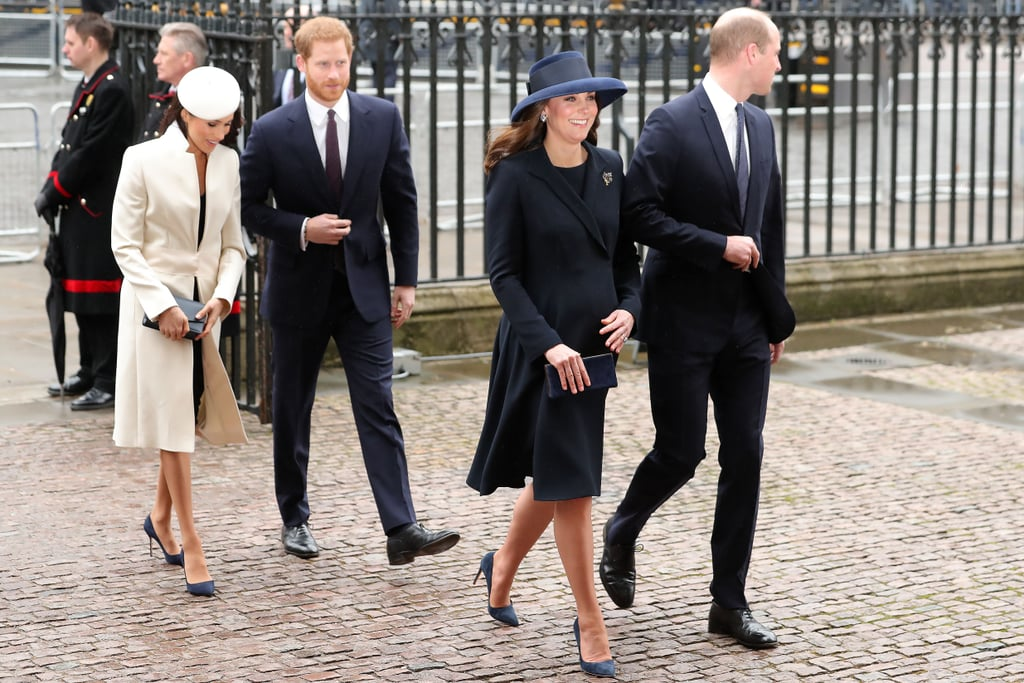 Kate Middleton and Meghan Markle Wore Matching Blue Heels