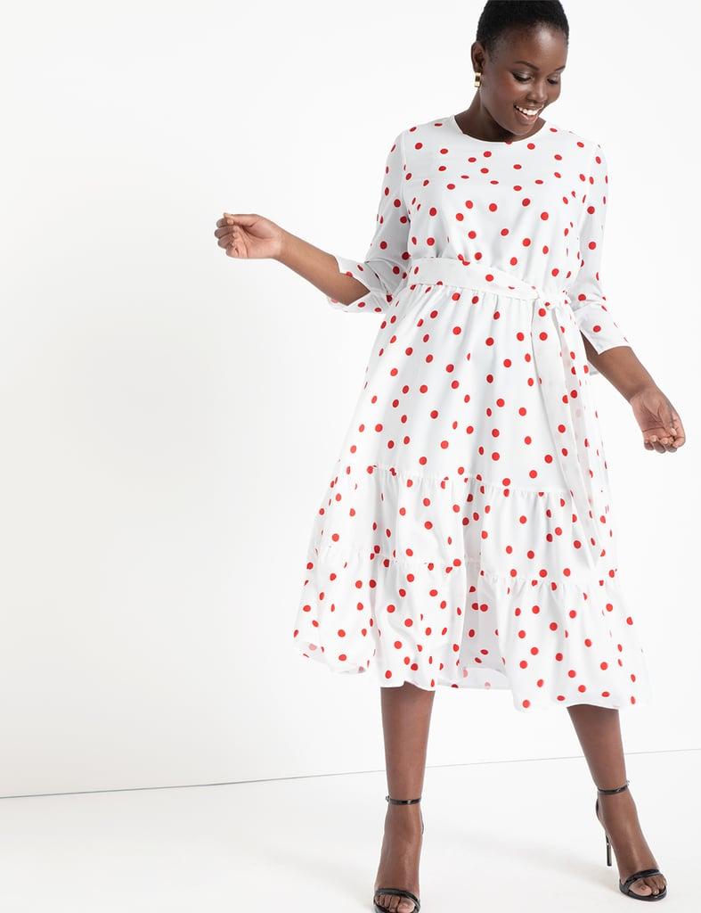 Eloquii Puff Sleeve Dress With Tiered Skirt