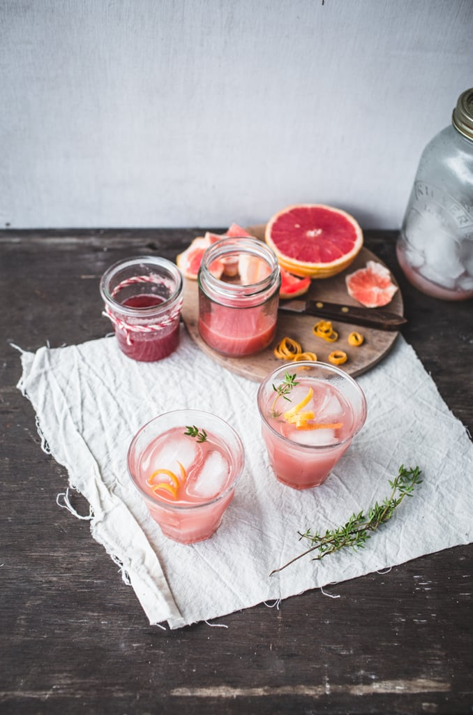 Rhubarb, Grapefruit, and Thyme Cocktail
