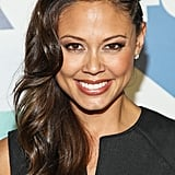 Wearing one of Summer's hottest trends, the faux undercut, Vanessa Lachey wore hers with two cornrows and glossy loose waves.