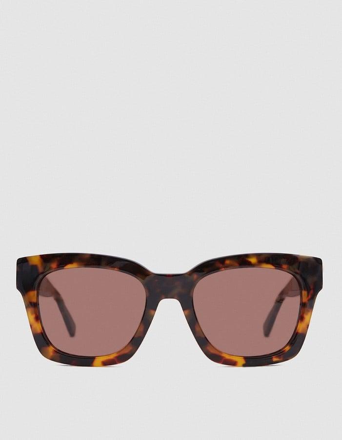 c913ea4ff64d Ganni Alice Shades in Tortoise   Melania Trump Sunglasses   POPSUGAR ...