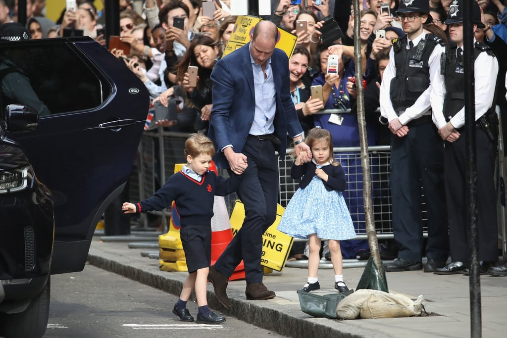 Prince George and Princess Charlotte at Hospital to See ...