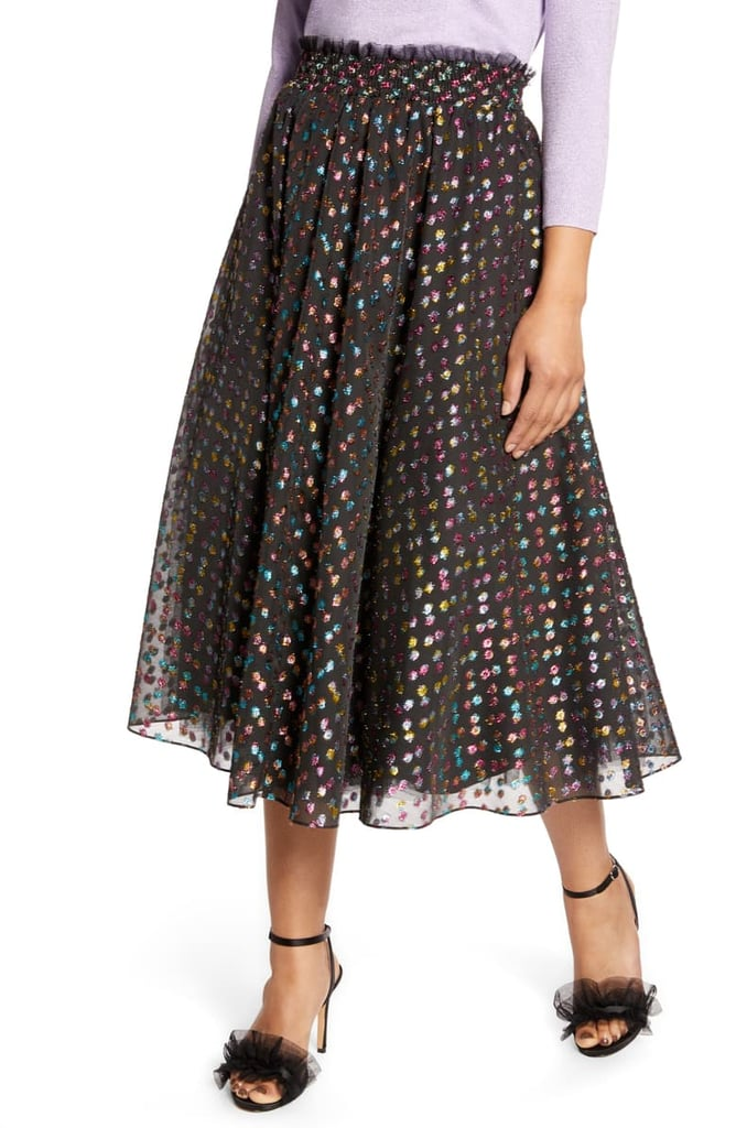 Halogen x Atlantic-Pacific Rainbow Dot Full Skirt